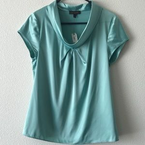 NWT The Limited Teal Blouse size M